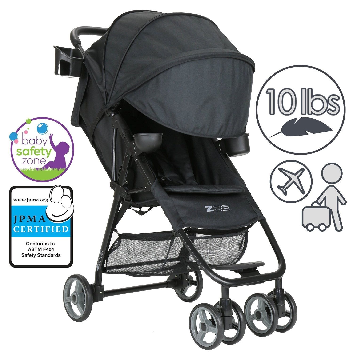ZOE XL1 BEST Xtra Lightweight Travel & Everyday Umbrella Stroller System